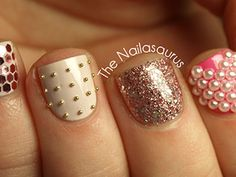 Take your #nailart to the next level with bedazzling. http://www.ivillage.com/best-nail-art-teen-and-tween-girls/6-a-527284#