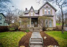 Old House Dreams - Page 3 of 414 - Old Homes & Historic Houses For Sale Victorian Dollhouse, Victorian Homes, Historic Homes For Sale, Historic Houses, Carriage House Garage, Small Ponds, Next Door, Old House Dreams, Full Bath