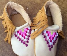 Beaded moccasins toddler
