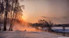 An evening in winter - on desktopnexus.com