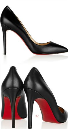 Christian Louboutin ● Smooth leather 'Pigalle' pumps