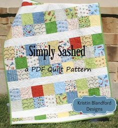 Simply Sashed Quilt Pattern - Charm Pack Friendly