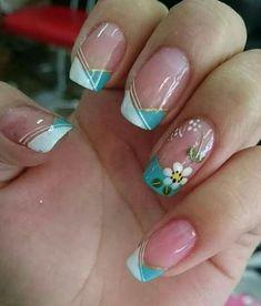 Nail Art Ideas For Spring Design Nailart 49 Ideas Trendy Nail Art, Cool Nail Art, Spring Nails, Summer Nails, Summer French Nails, Acrylic Nail Designs, Nail Art Designs, Design Art, Zebra Print Nails