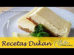 Adelgazar: Barritas de limón y galleta (Dieta Dukan Ataque) / Diet Cheesecake Lemon Bars