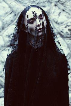 MARY ELIZABETH & MAXINE ANASTASIA by Lucia O'Connor-McCarthy #veil #portrait #fashion #editorial #dark