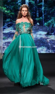Off+the+Shoulder+Prom+Dresses+Sexy+Long+Sleeve+Lace+Backless+Chiffon+Floor+Length+Party+Queen+Dresses+Arabic+Evening+Gowns