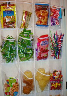 Pantry Organization - Hanging shoe bag for little items