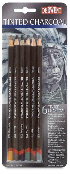 http://www.dickblick.com/products/derwent-tinted-charcoal-pencils #dickblick @dickblick #artsupplies