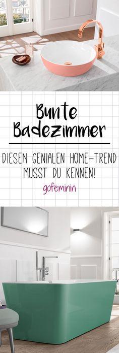 Bunte Badezimmer sind angesagter denn je. Wir verraten euch, was es mit dem neuen Home-Trend auf sich hat und wie ihr ihn ganz leicht nachstylt.