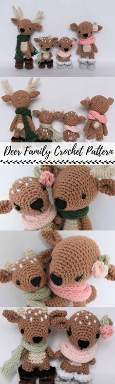 Baby Knitting Patterns Deer Family Crochet Pattern / Photo Tutorial by SleepySheep ... #CrochetChristmas