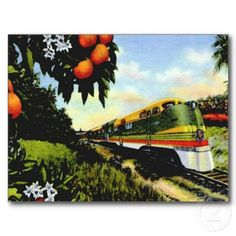 weird vintage postcards | passenger train vintage florida paradise passenger train vintage ...