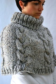 Ravelry: Braided Cable Poncho Cape pattern by Ashley Lillis