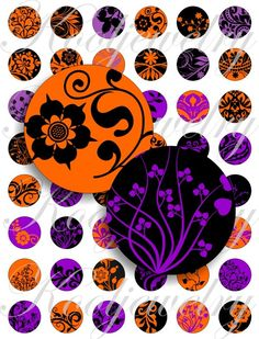 Halloween Bottle Caps | Halloween colors designs for bottle caps, pendant, buttons, scrapbook ...