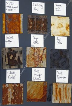 Gallery - Workshop: Dyeing and printing with rust Echo print with different material of cook Shibori, Fabric Painting, Fabric Art, Natural Dye Fabric, Natural Dyeing, Textiles Techniques, Fabric Dyeing Techniques, Art Techniques, How To Dye Fabric