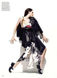 coco rocha5 Coco Rocha by Chris Nicholls for Flare February 2012 posing standing emo