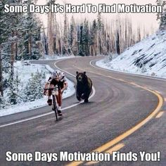 Some days it's hard to find motivation. Some days motivation finds you.