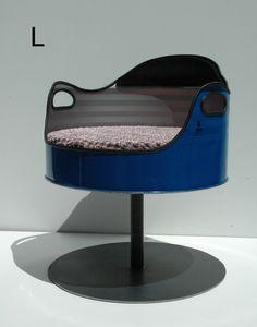 Bidon chaise Recycled Furniture, Unique Furniture, Industrial Furniture, Furniture Design, Furniture Ideas, Drum Seat, Drum Chair, Oil Barrel, Metal Barrel