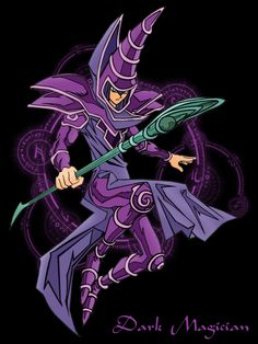 Dark Magician from Yu-Gi-Oh!  My favorite monster along with the Dark Magician Girl and Slifer the Sky Dragon :)