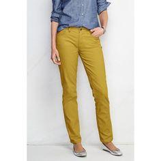 b0e7b11fa2f83 Lands  End Petite Mid Rise Straight Leg Corduroy Pants ( 20) ❤ liked on
