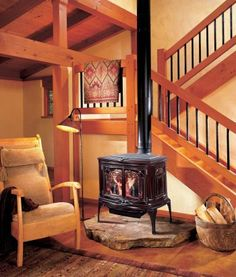 Cool Rustic Natural Gas Fireplace Insert With Blower Design - Craft and Home Ideas Wood Stove Surround, Wood Stove Hearth, Granite Hearth, Stove Fireplace, Fireplace Design, Fireplace Ideas, Hearth Tiles, Fireplace Pictures, Granite Slab