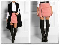 3.1 Phillip Lim embossed neoprene-effect jersey skirt