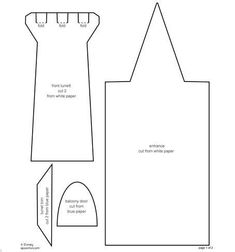 Eu Amo Artesanato: Castelo com molde Quiet Book Templates, Quiet Book Patterns, Card Templates, Cardboard Box Houses, Castle Crafts, Balcony Doors, Cinderella Birthday, White Paper, Paper Cutting