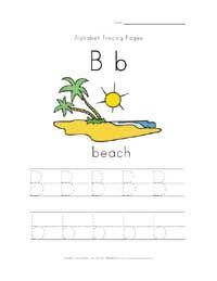 summer letter b worksheet