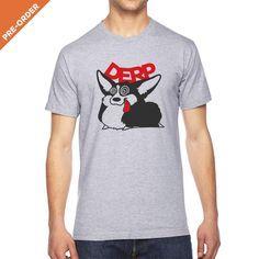 Give A Fluff Derp Corgi Unisex T-shirt.