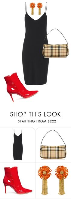 """""""//The Little Black Dress//"""" by claraxschmidt ❤ liked on Polyvore featuring T By Alexander Wang, Burberry, Gianvito Rossi and Yves Saint Laurent"""