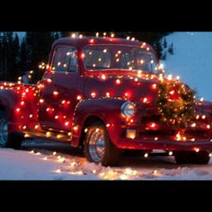 Christmas classic truck