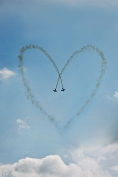 i was walking home from my friend's funeral and the red arrows did this straight ahead of me - they knew i needed it.