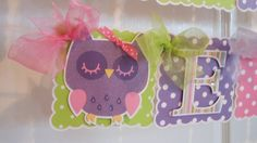 Owl Happy Birthday/Name banner by ASweetCelebration on Etsy