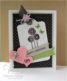 Card by Marisa Ritzen using Poppy Birthday from Verve Stamps.  #vervestamps