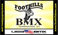 Located in the picturesque hills of northwest Connecticut, the Foothills BMX facility is nestled in a cozy setting which incorporates great areas for viewing. The track itself is 1190 feet long with 5 asphalt turns and usually enjoys a large turnout of some of the best riders that New England has to offer. We race under the sanction of USABMX. The track is open to the general public on non-event days from dawn until dusk. Helmets are required at all times.