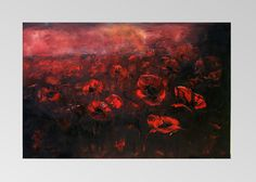 Night poppies Oil Painting Art Oryginal Idea by BarbaraGallery