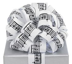 Music Note Ribbon Bow for the perfectly wrapped gift!