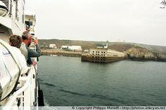 Embarcadère du Stiff. Arrivée sur l'île d'Ouessant (Bretagne, Finistère)