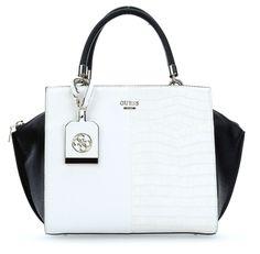 wardow.com - #Guess Casey Handtasche weiß 30 cm #blackwhite #color #fashion #bag