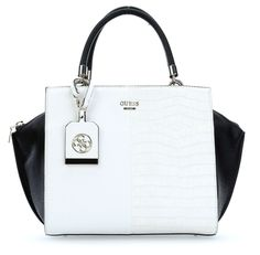 wardow.com - #Guess Casey Handtasche weiß 30 cm #blackwhite #color #fashion #bag