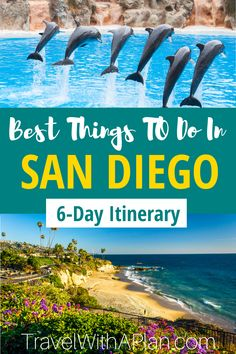 Discover the best things to do in San Diego on your family vacation! We outline the perfect 6-day San Diego vacation by describing what to do, where to stay, and how to get around. Click here to plan your San Diego vacation! #California #familytravel #SanDiegowithkids #LaJolla #Carlsbad #bestfamilyvacationspots #California beaches