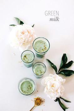 Spirulina and Matcha combine for this delicious Green Milk Recipe from Kale & Caramel