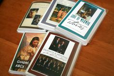 Wow! This gal has come up with some beautiful printable church quiet books using the LDS photo art kit. Just send JPEG files to place like Costco to print and insert pages in a book of photo pockets you can pick up at the Dollar Store.