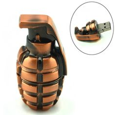 Wouldn't suggest you try to take this with u on a flight. Grenade USB FlashDrive-