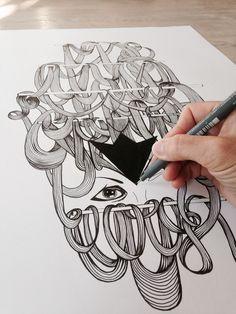 Art, drawing, illustration, paper, tusch, tegning,