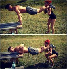 Squats push ups, couples workout?