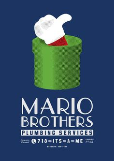 Mario Brothers Plumbing Services Poster