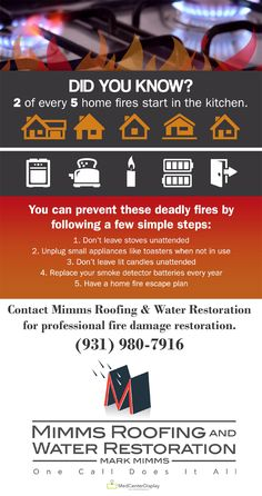 2 out of every 5 home fires begin in the kitchen. Follow these 5 steps to prevent home fires.