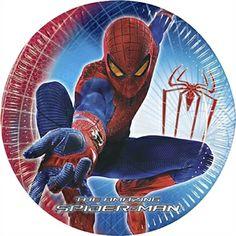 Spider-man temafest. Skal din dreng holde fødselsdag er her et godt tema. Komplet sæt lige til at dække bord. #spiderman #spider-man #temafest