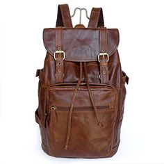 Leather Backpack For School or College
