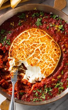 Baked Goat Cheese: Everyone expects cheese at a party but theyll be pleasantly surprised by Baked Goat Cheese. Broiled in a baking dish with a bright tomato sauce it makes for great presentation too. Cheese Recipes, Appetizer Recipes, Appetizers, Fingers Food, Baked Goat Cheese, Vegetarian Recipes, Cooking Recipes, Snacks Für Party, Food Inspiration